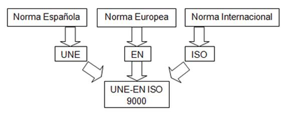 esquema de la formación de la ISO 9000