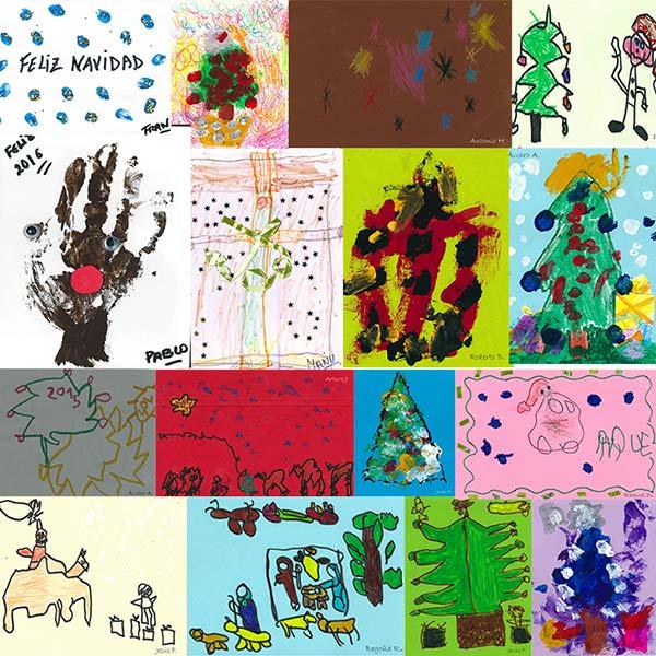 collage de postales creadas por APCA para la Navidad 2016
