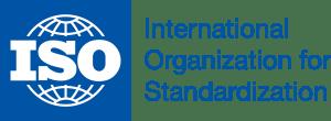 logo ISO azul