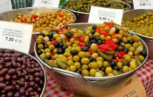 Información nutricional de las aceitunas