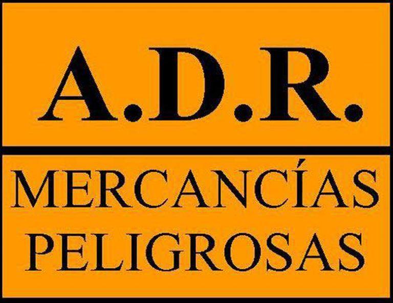 logo ADR mercancías peligrosas