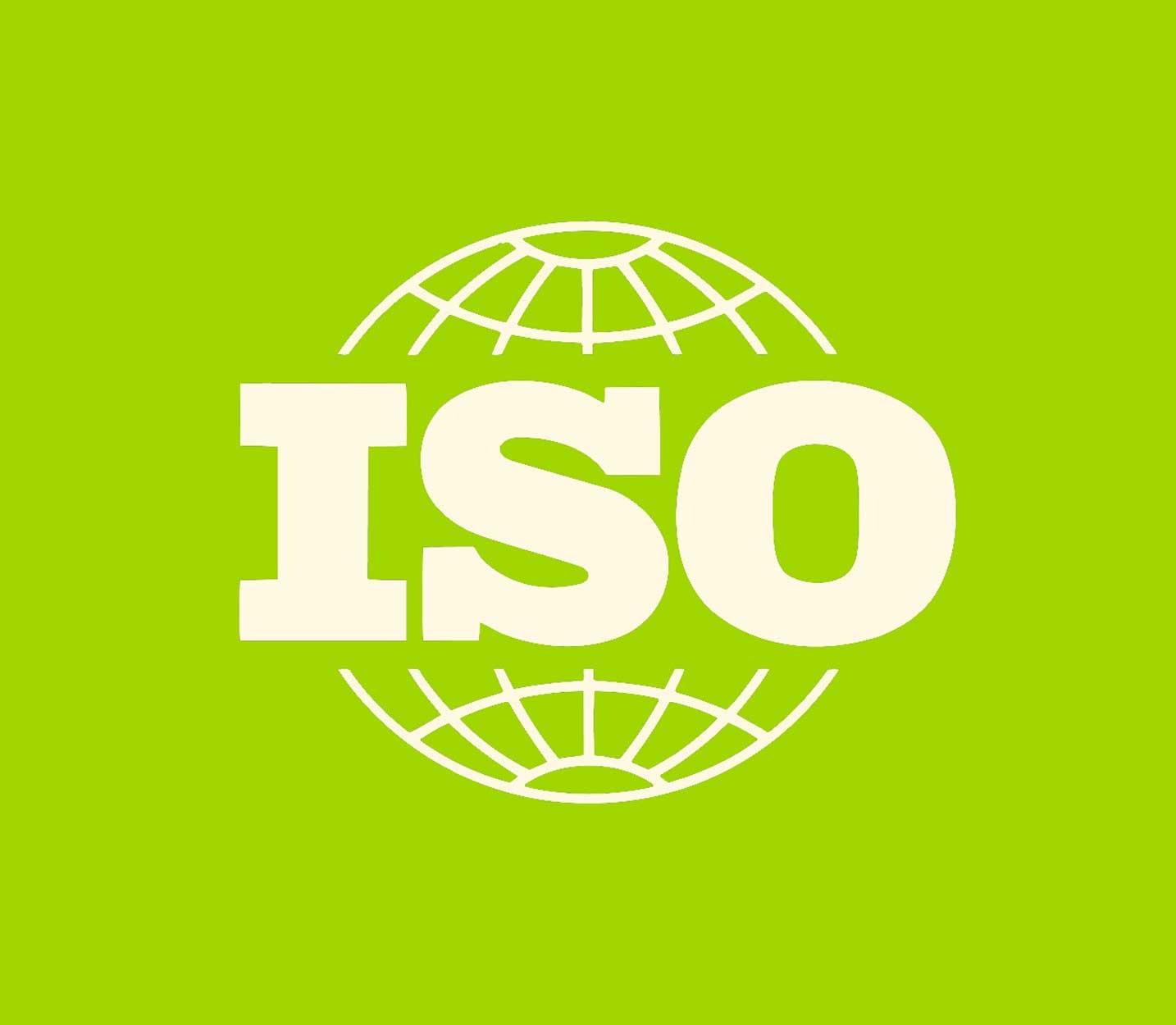 logo ISO fondo verde