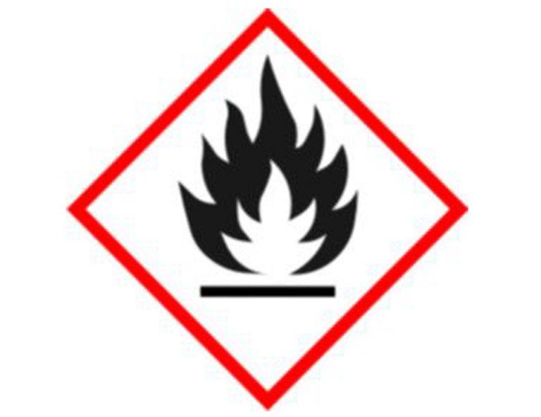 logo de productos peligrosos como el inflamable