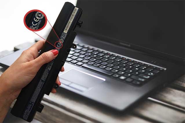 marcado CE en batería de portátil