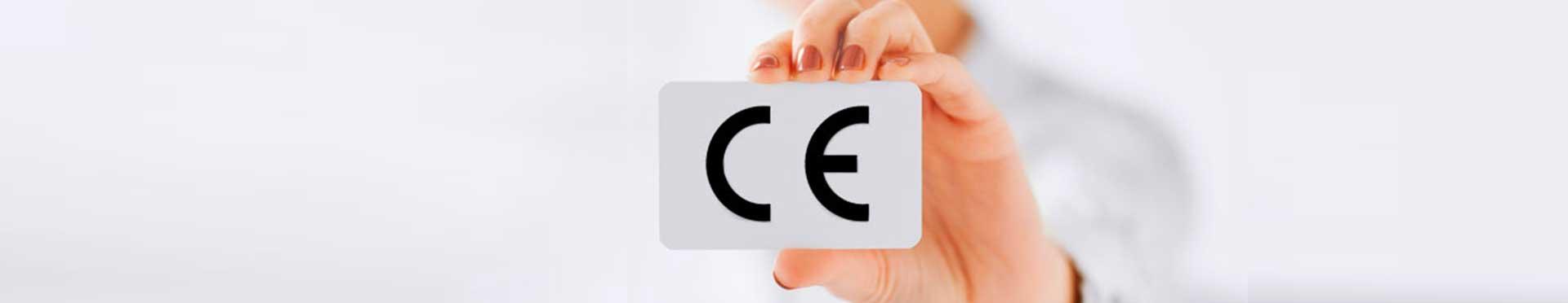 tarjeta con el logo marcado CE