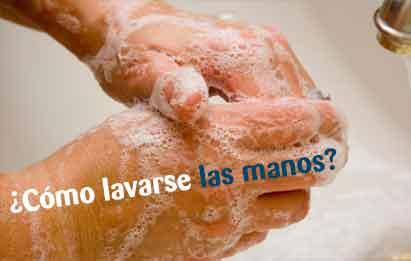 cómo lavarse las manos con jabón de forma correcta
