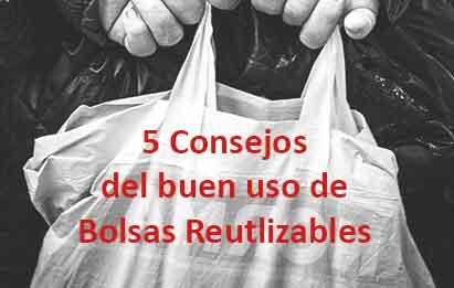 Consejos para evitar la intoxicación alimentaria por el uso de bolsas reutilizables